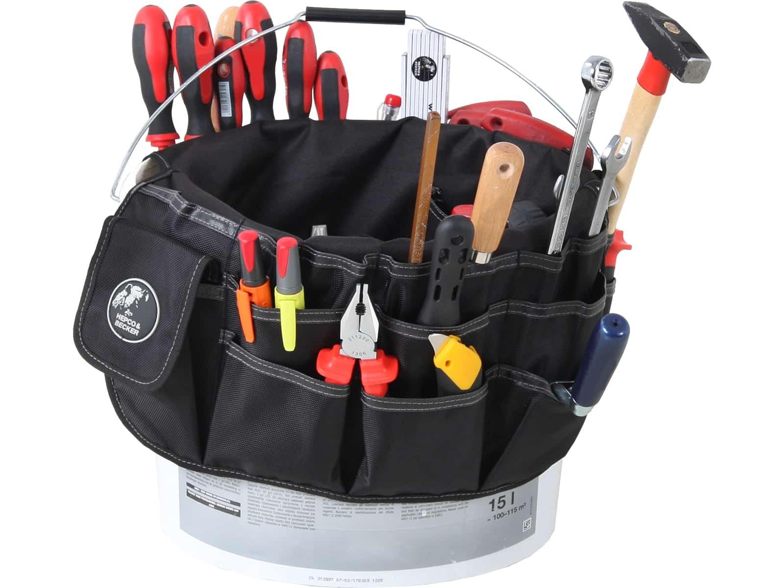 Polytex 5860 Eimerwerkzeugtasche für 10-15l Baueimer